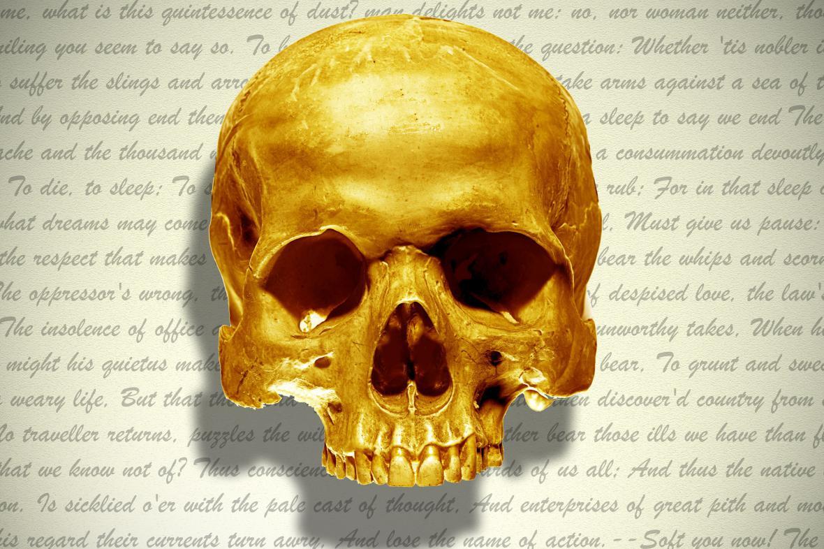 Plakát k přednášce Martina Hilského: Hamlet