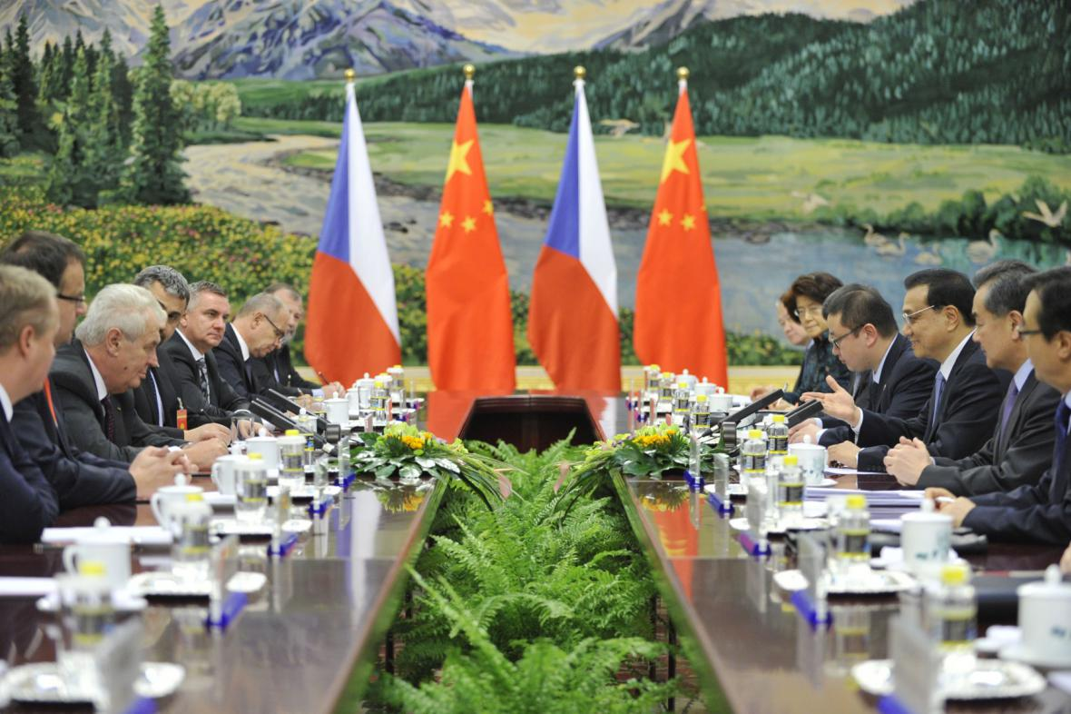 Český prezident na návštěvě Číny