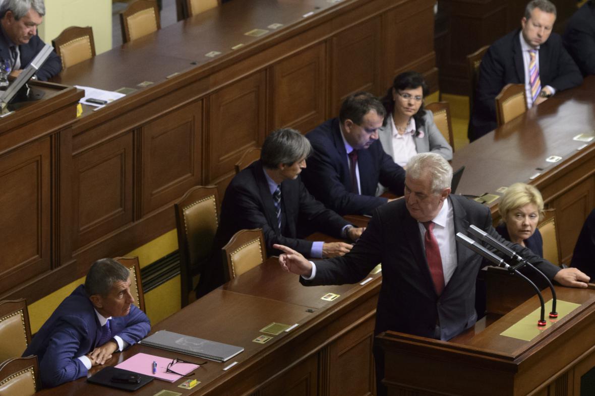 Miloš Zeman v Poslanecké sněmovně
