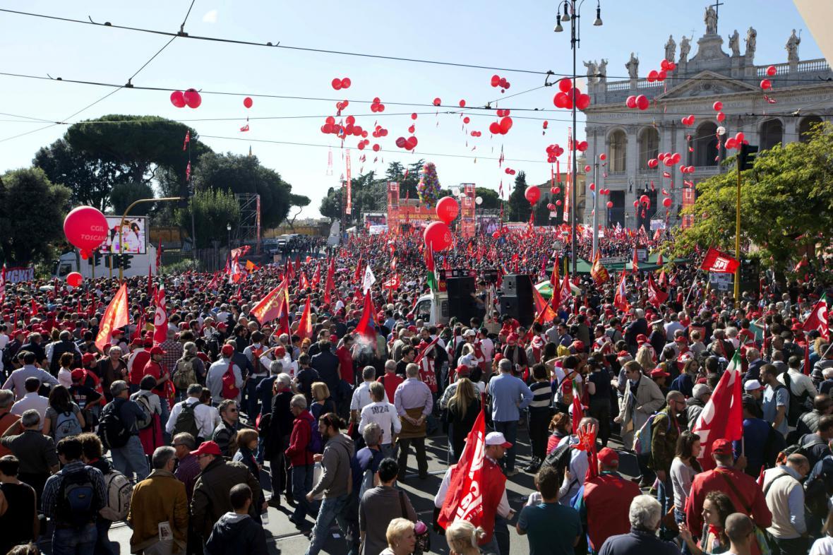 Demonstrace v Římě