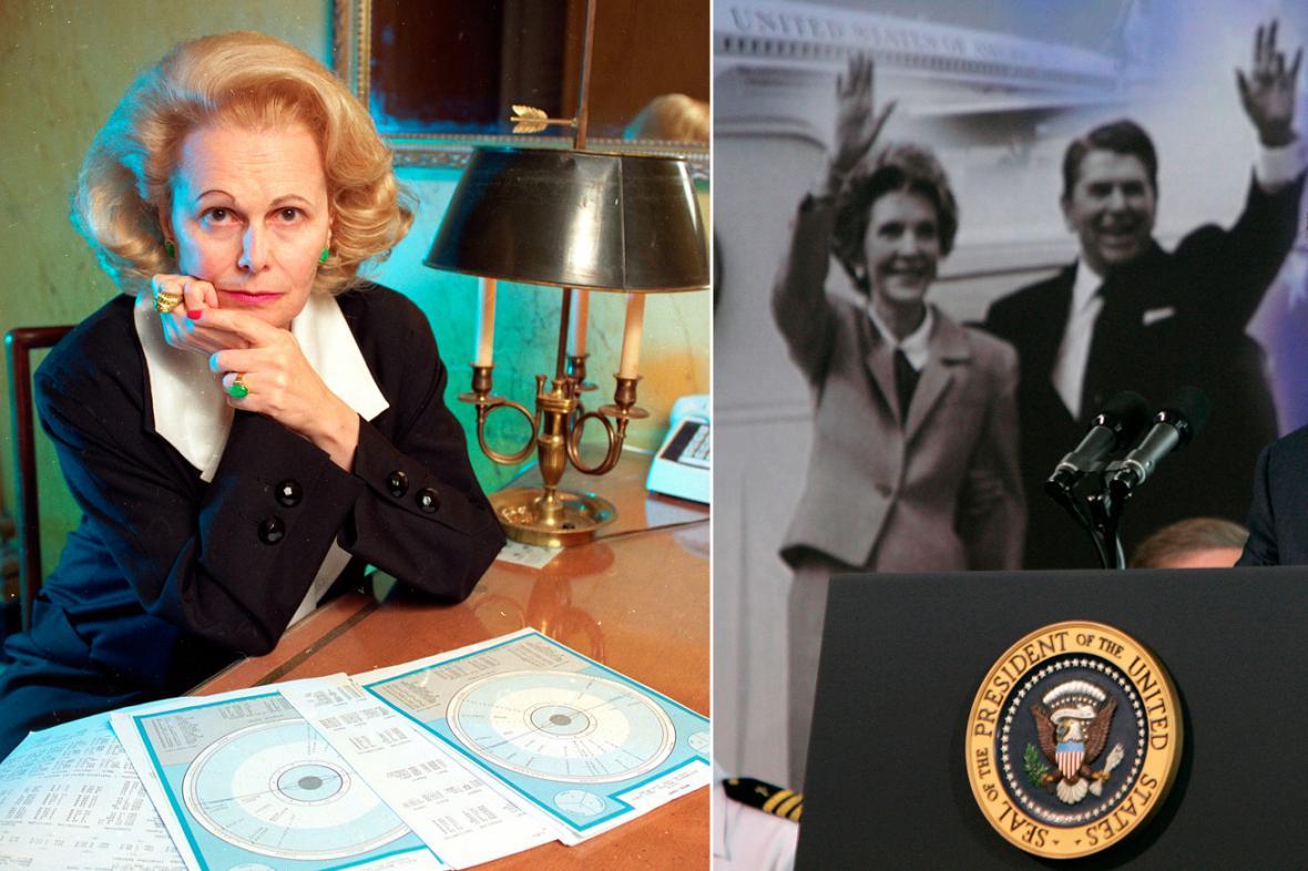 Joan Quigleyová a manželé Reaganovi