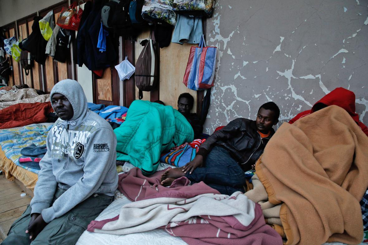 Afričtí imigranti v Calais