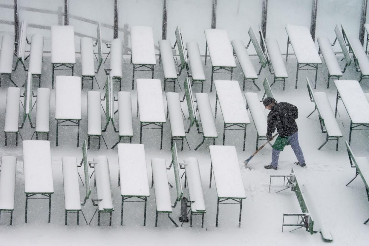 Do Bavorska přineslo ochlazení sníh