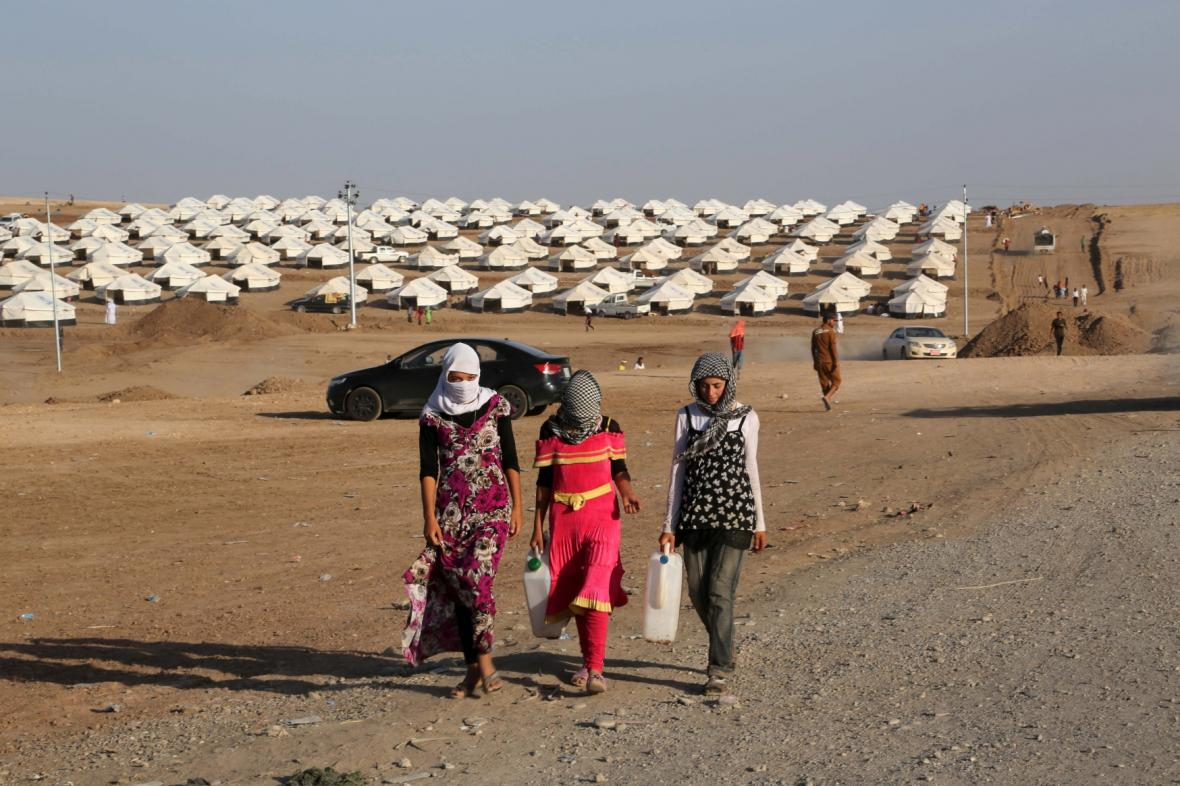 Uprchlický tábor jezídů