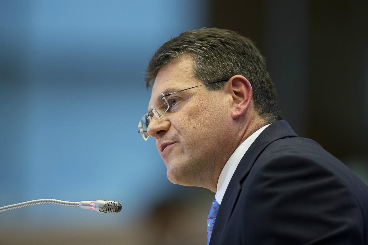 Maroš Šefčovič při slyšení před europoslanci