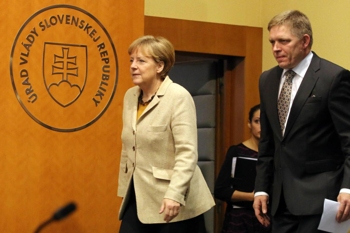 Angela Merkelová při návštěvě Slovenska