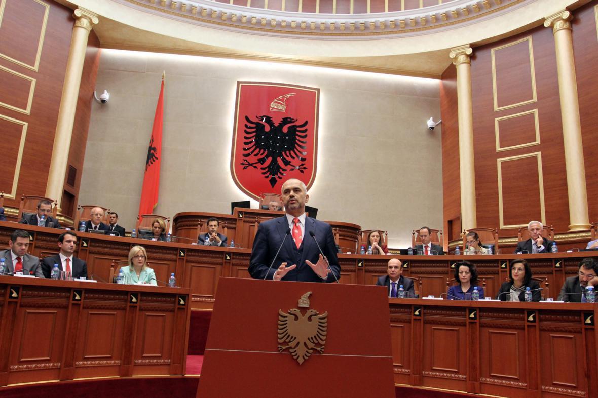 Albánský premiér Edi Rama