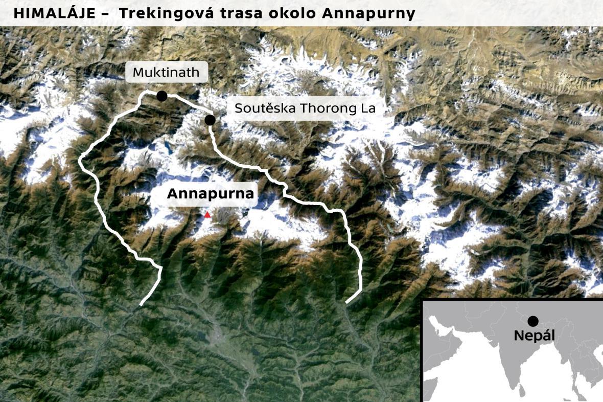 Trekingová trasa okolo Annapurny