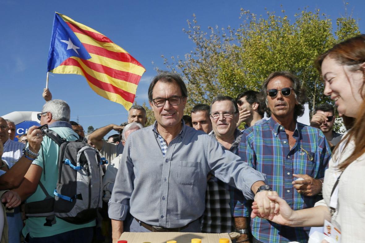 Předseda katalánské vlády Artur Mas