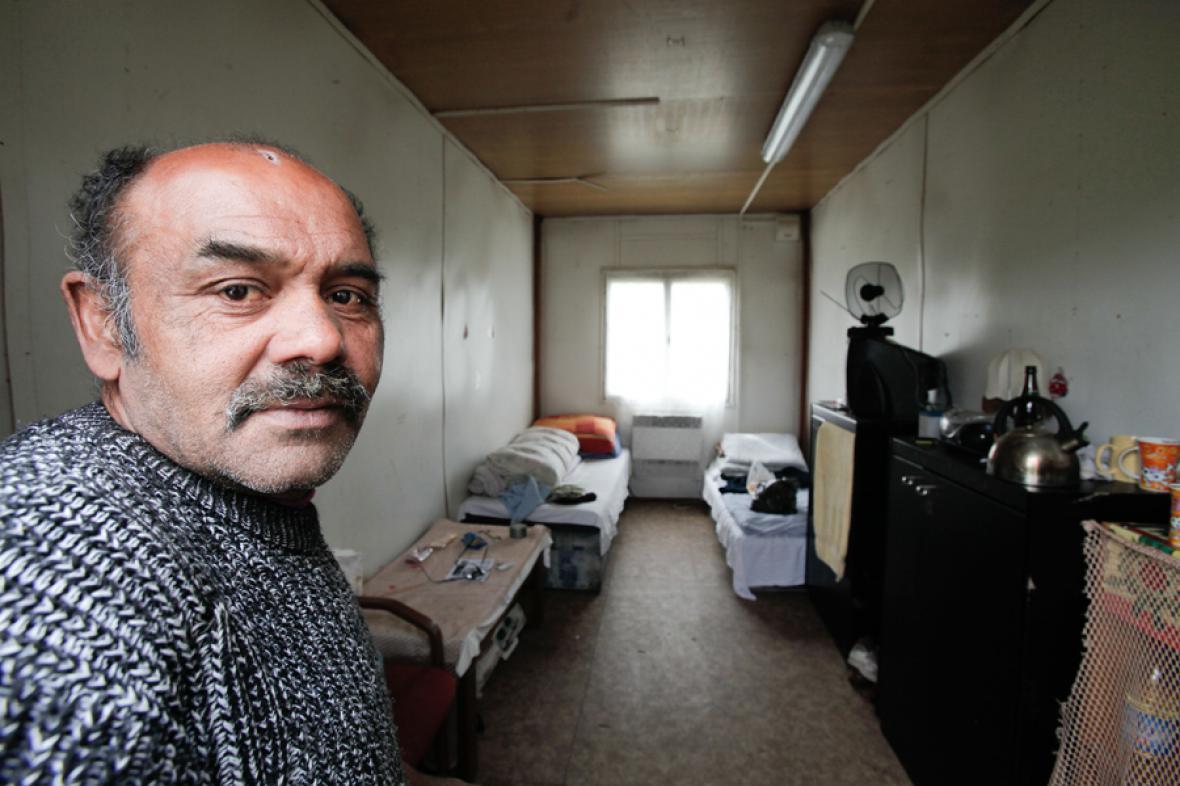 Nezaměstnaný v ubytovně