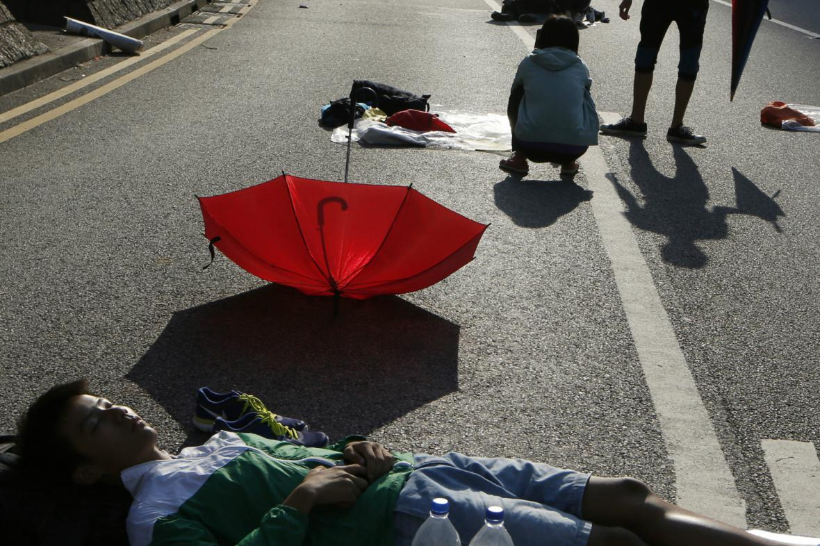 Protesty v Hongkongu utichají