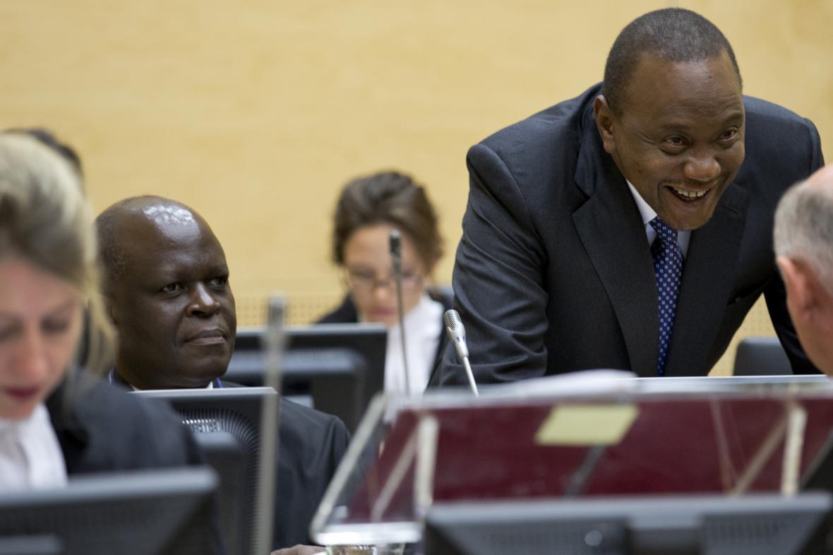 Keňský prezident Kenyatta před soudem v Haagu