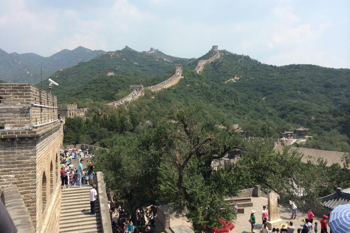 Lidský hrozen na Velké čínské zdi