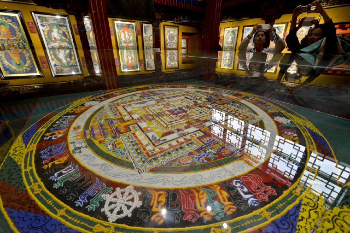 Thangka festival v Lhase