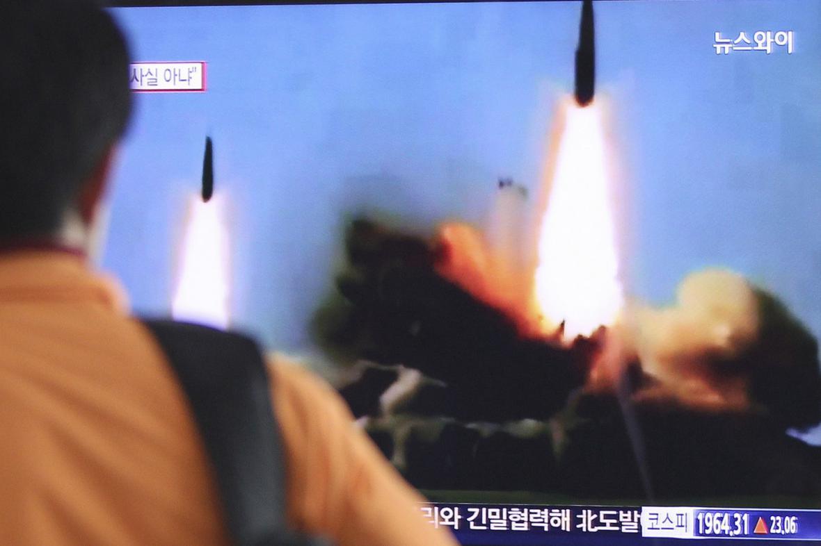 Severokorejský test raket středního doletu