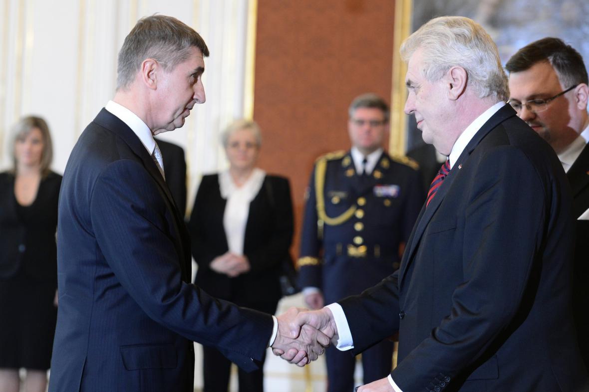 Jmenování Andreje Babiše ministrem financí