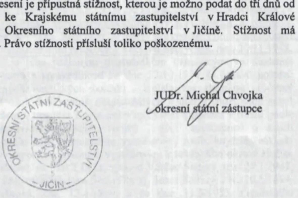 Případ Václava Šedivého řešil žalobce Michal Chvojka