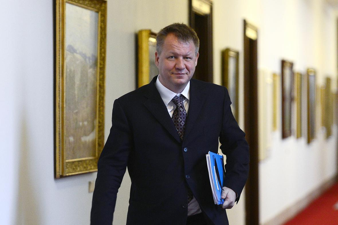Ministr zdravotnictví Svatopluk Němeček (ČSSD)