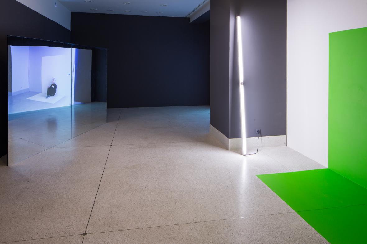 Práce finalistů Ceny Jindřicha Chalupeckého vystavuje Veletržní palác (na snímku: dílo Richarda Loskota)