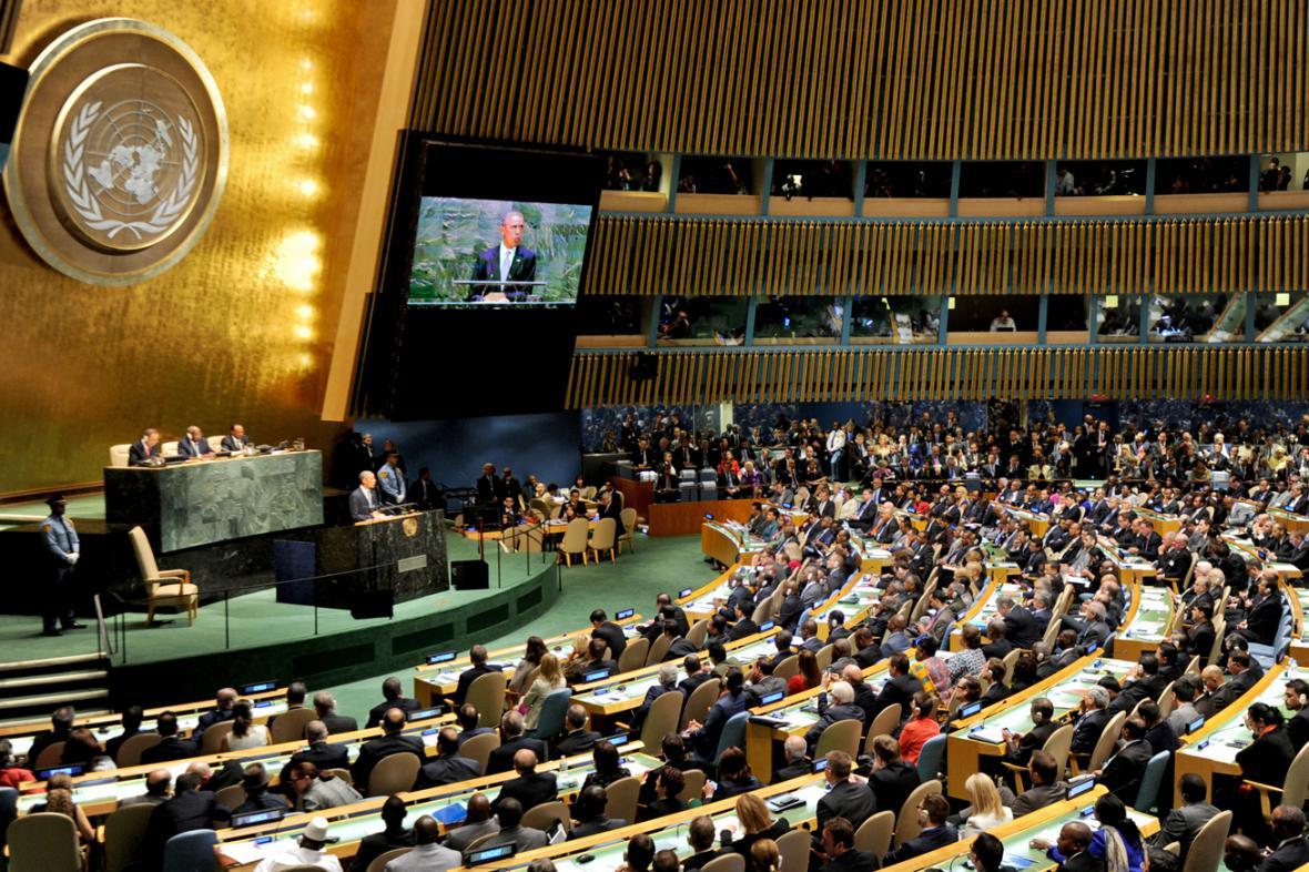 Barack Obama promluvil před Valným shromážděním OSN