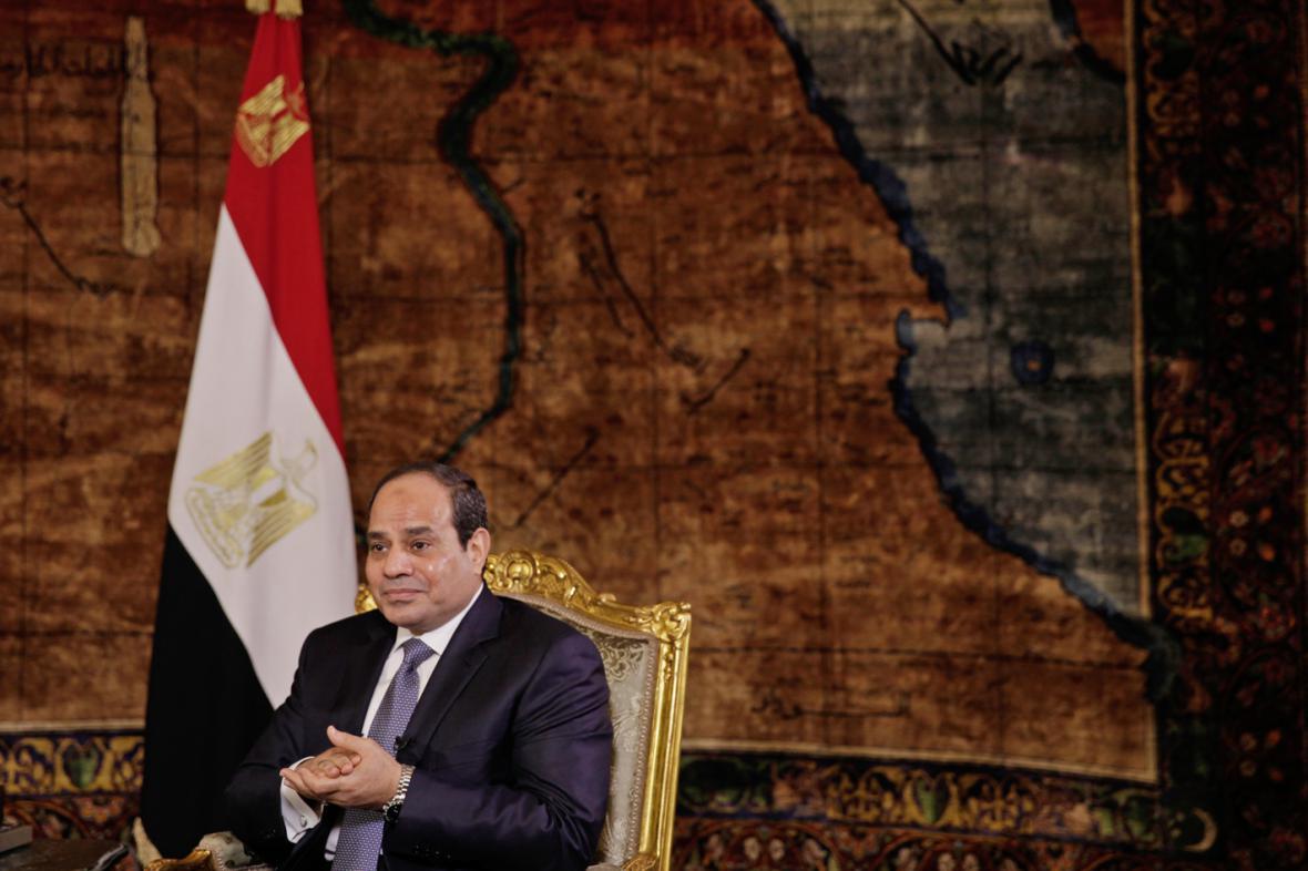 Abdal Fattáh Sísí poskytl rozhovor agentuře AP