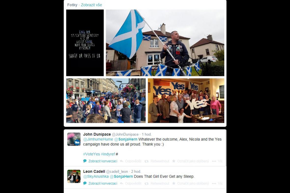 Skotské referendum –YES