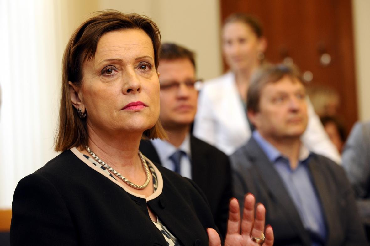 Alena Vitásková u soudu
