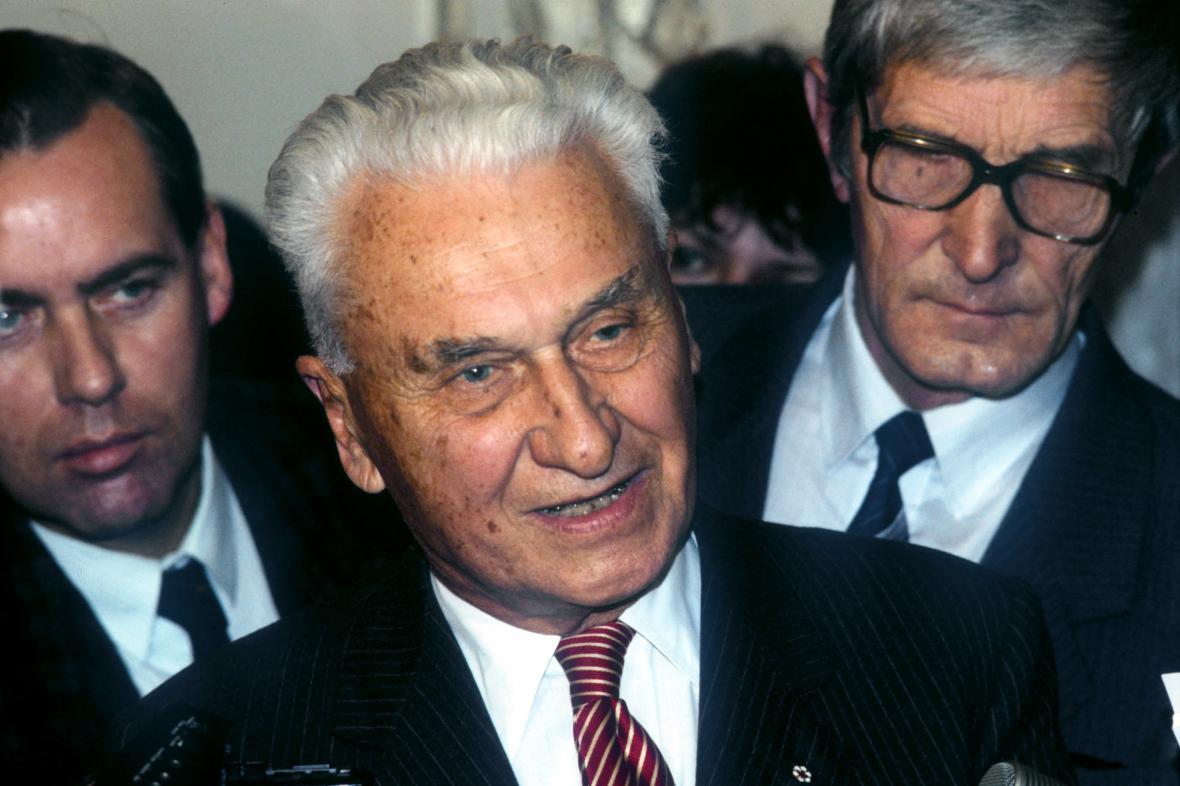 Tomáš Baťa po návratu do vlasti (1989)