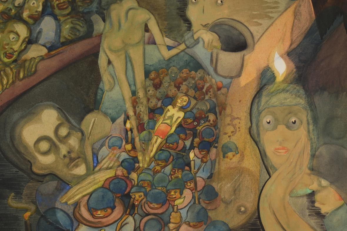Josef Váchal / Sen mrtvého, 1918