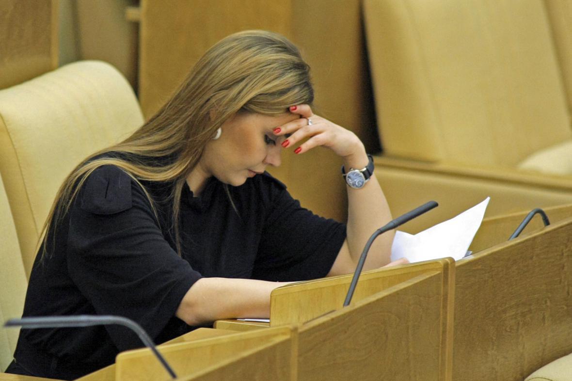 Alina Kabajevová v poslanecké lavici