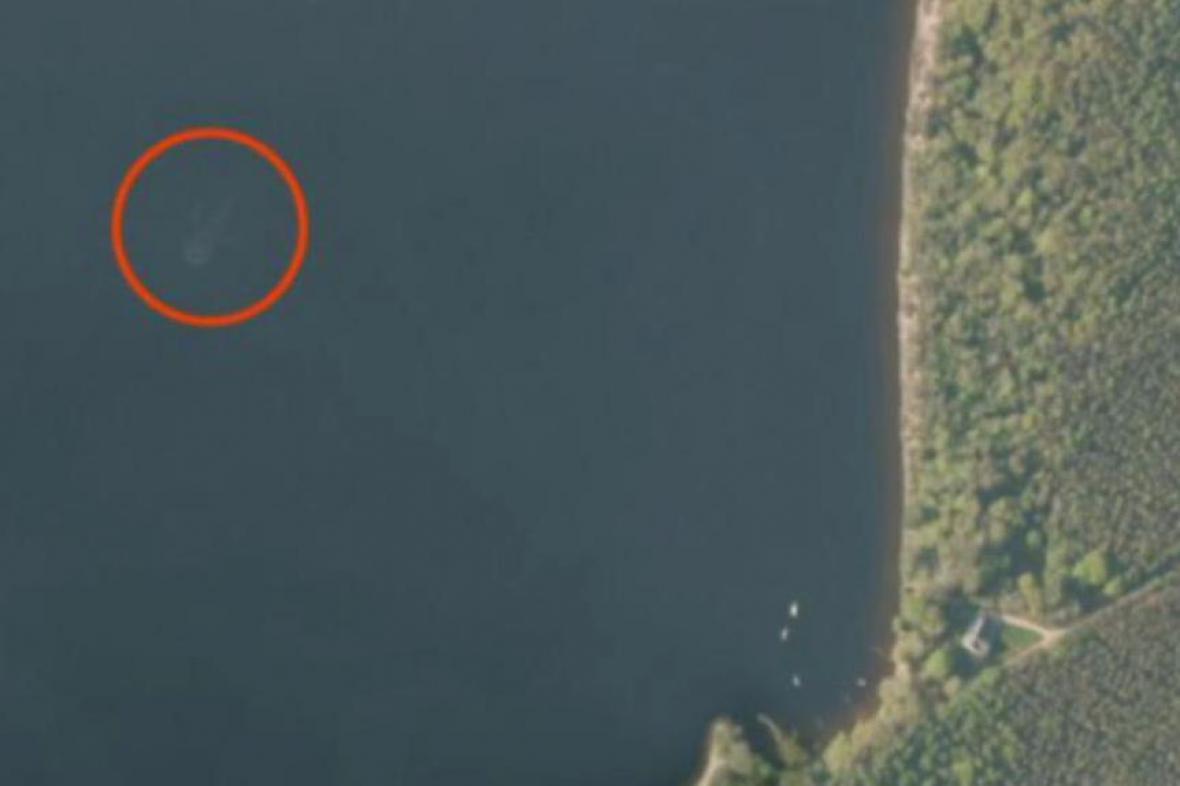 Satelitní snímek jezera, který vzbudil velkou pozornost