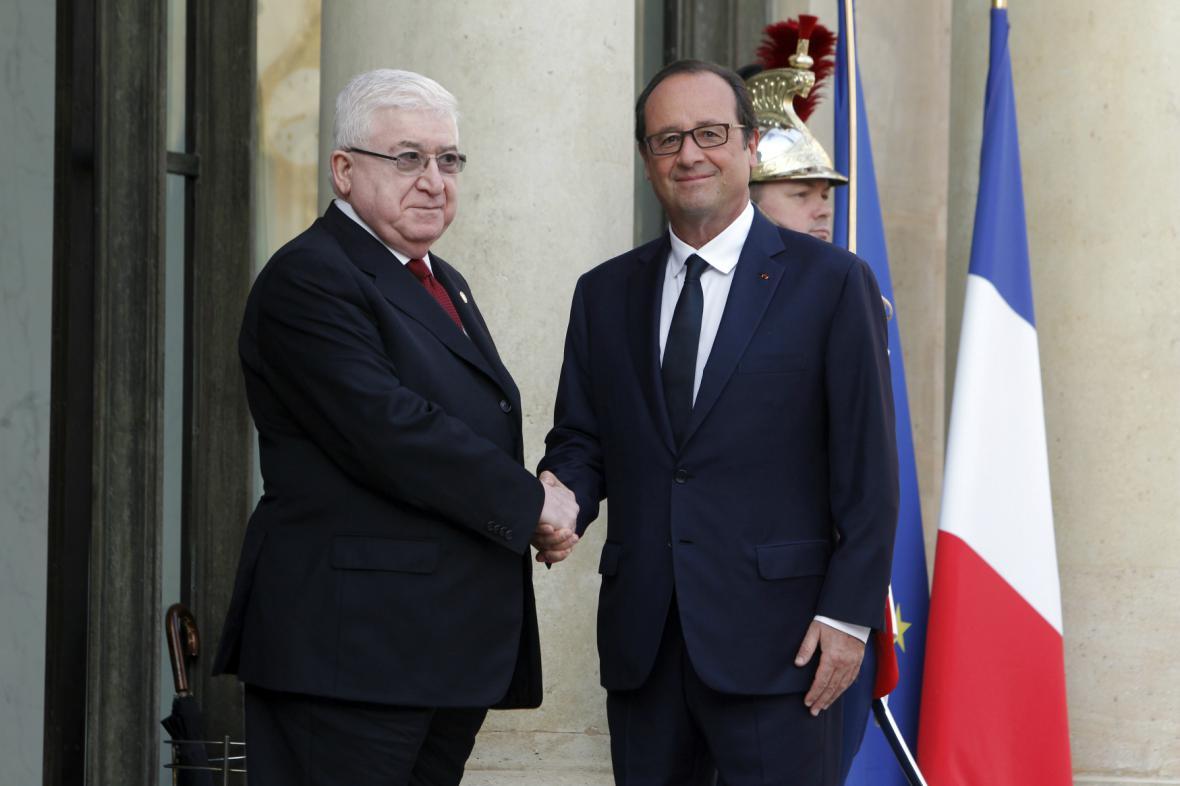 Irácký prezident Fuád Masúm na pařížské konferenci