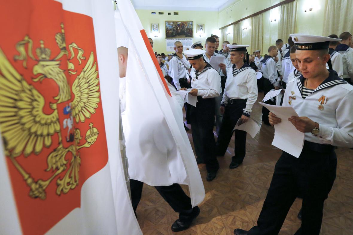 Volební místnost v Sevastopolu