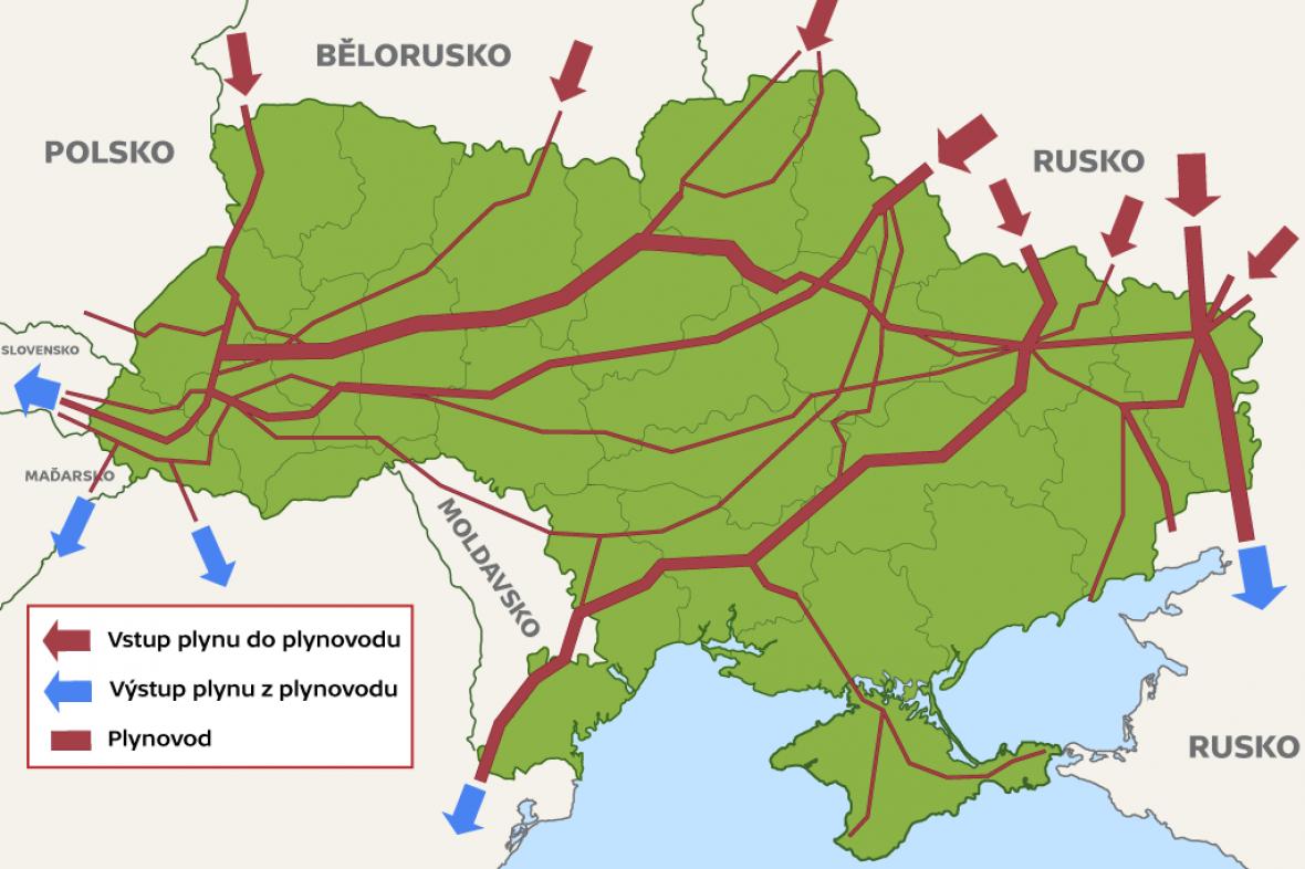 Cesty ruského plynu přes Ukrajinu