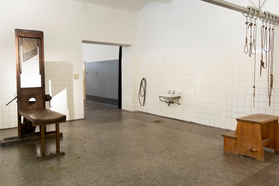 Pankrácká popravčí místnost - takzvaná sekyrárna