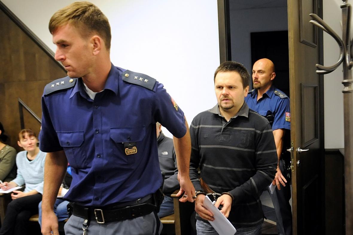 Miloš Straka před žďárským soudem