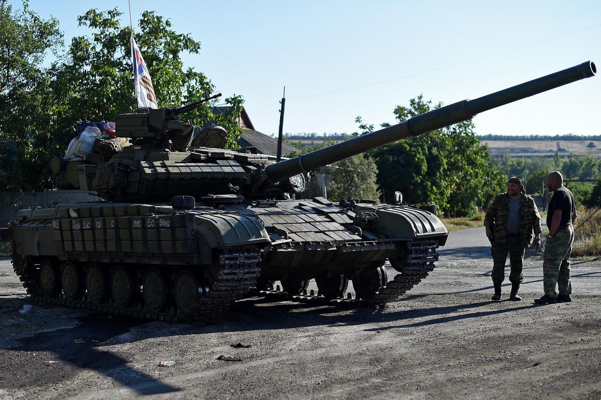 Tank proruských separatistů