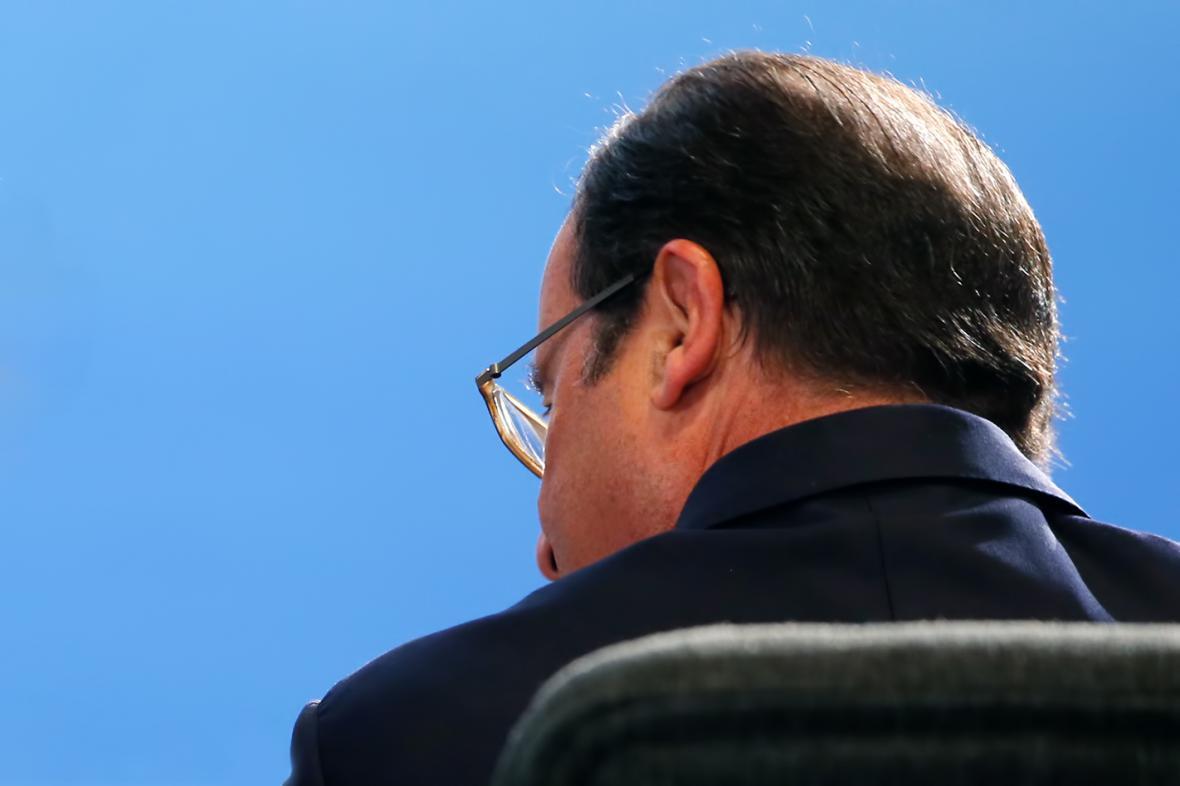 Francois Hollande na summitu NATO ve Walesu