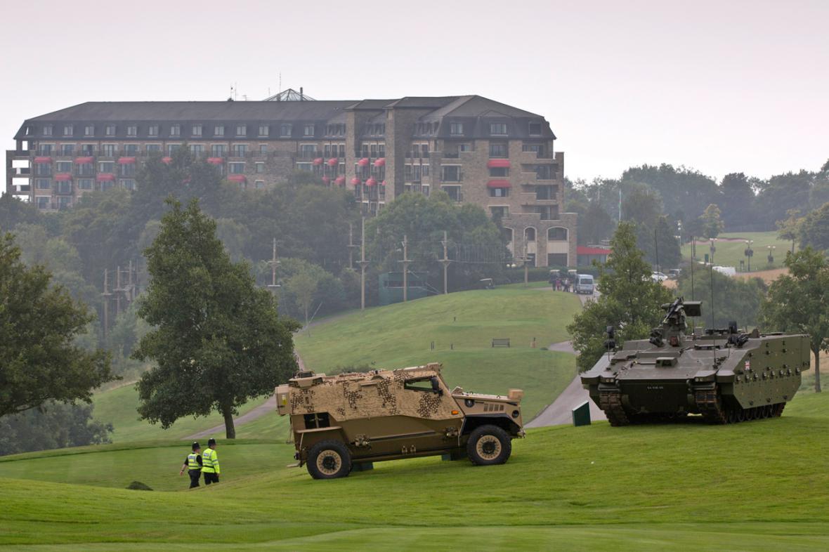 Bezpečnostní opatření v místě konání summitu NATO v Newportu