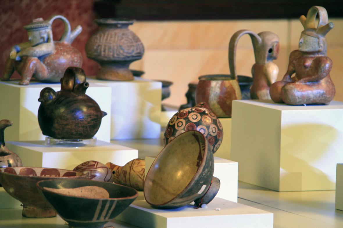 Ukradené archeologické předměty z Kolumbie