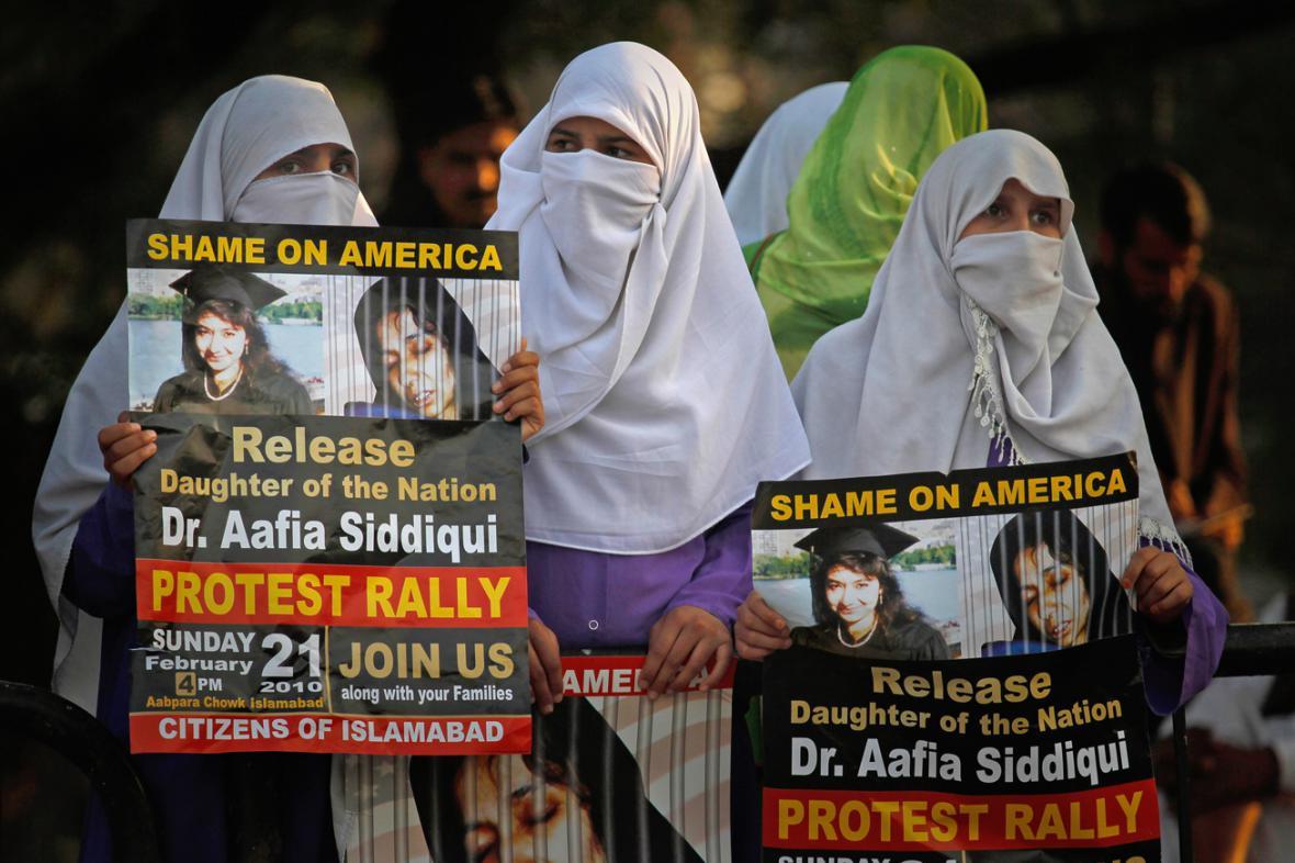 Demonstrace za propuštění Áfíi Siddíkíové