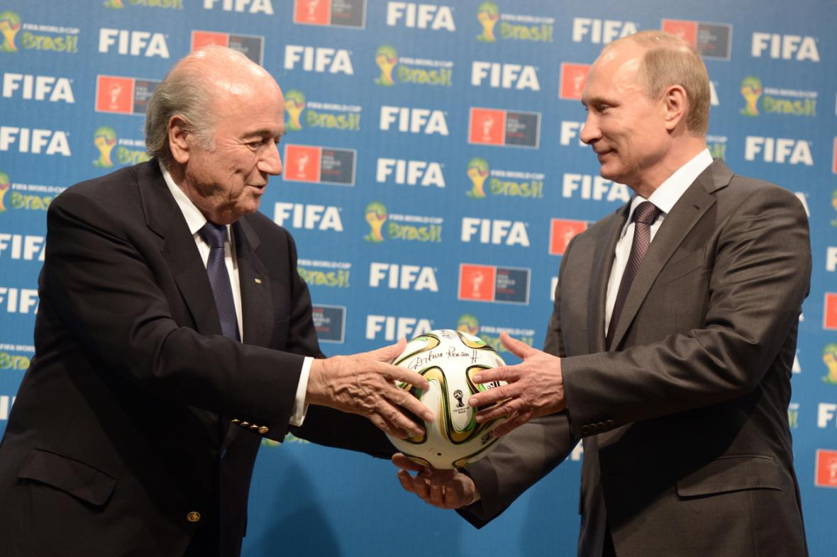 Joseph Blatter a Vladimir Putin
