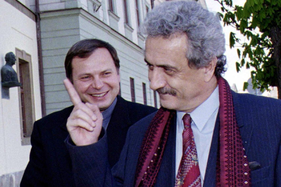 Karel Simandl s Pavlem Dostálem