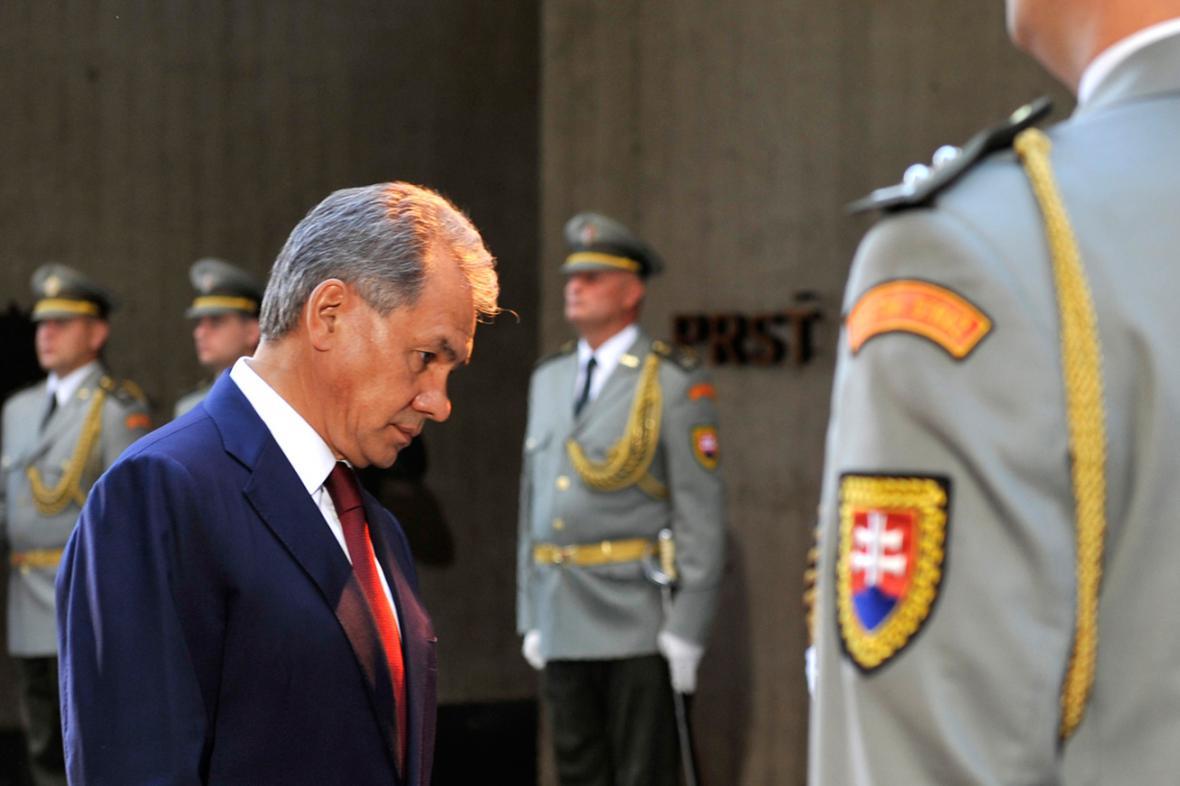 Sergej Šojgu na oslavách 70. výročí zahájení SNP