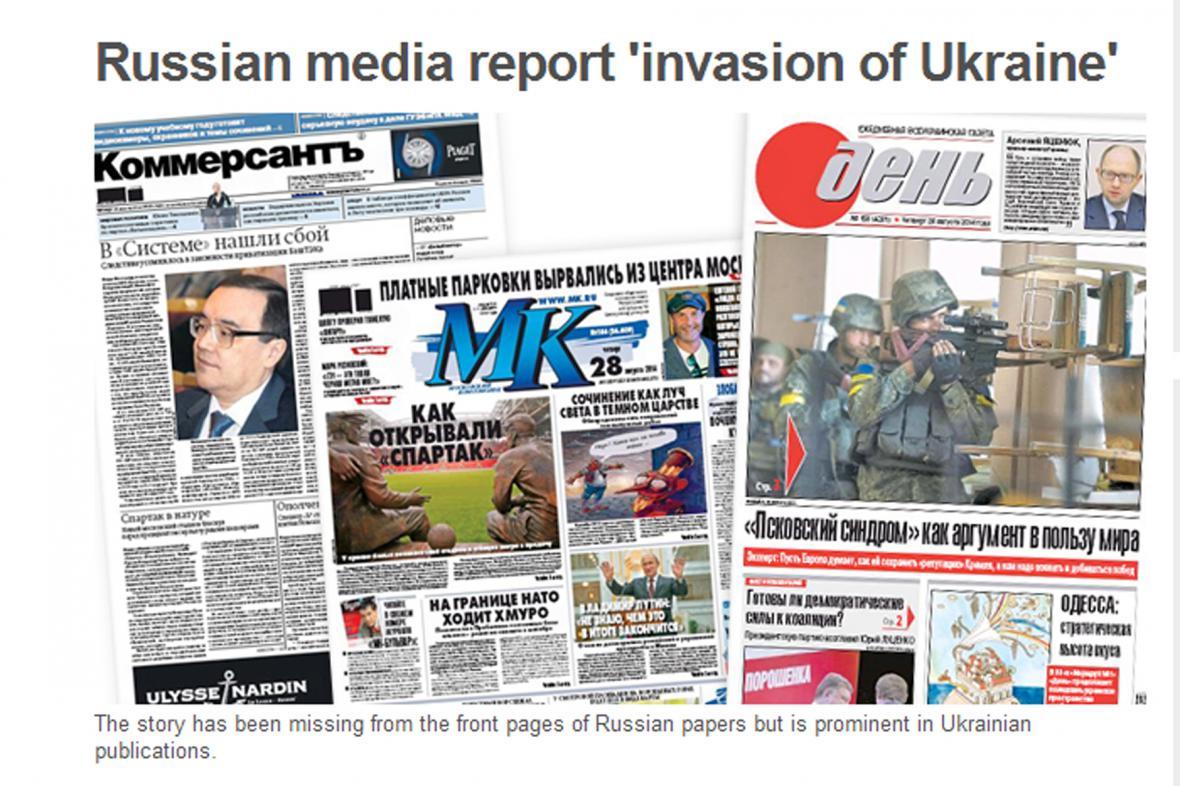 Ruský tisk o situaci na Ukrajině