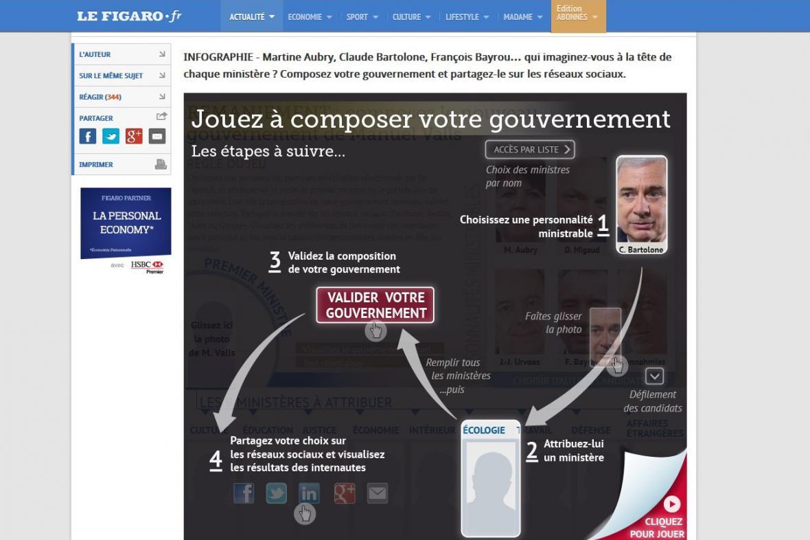 Le Figaro: sestavte si svoji vládu