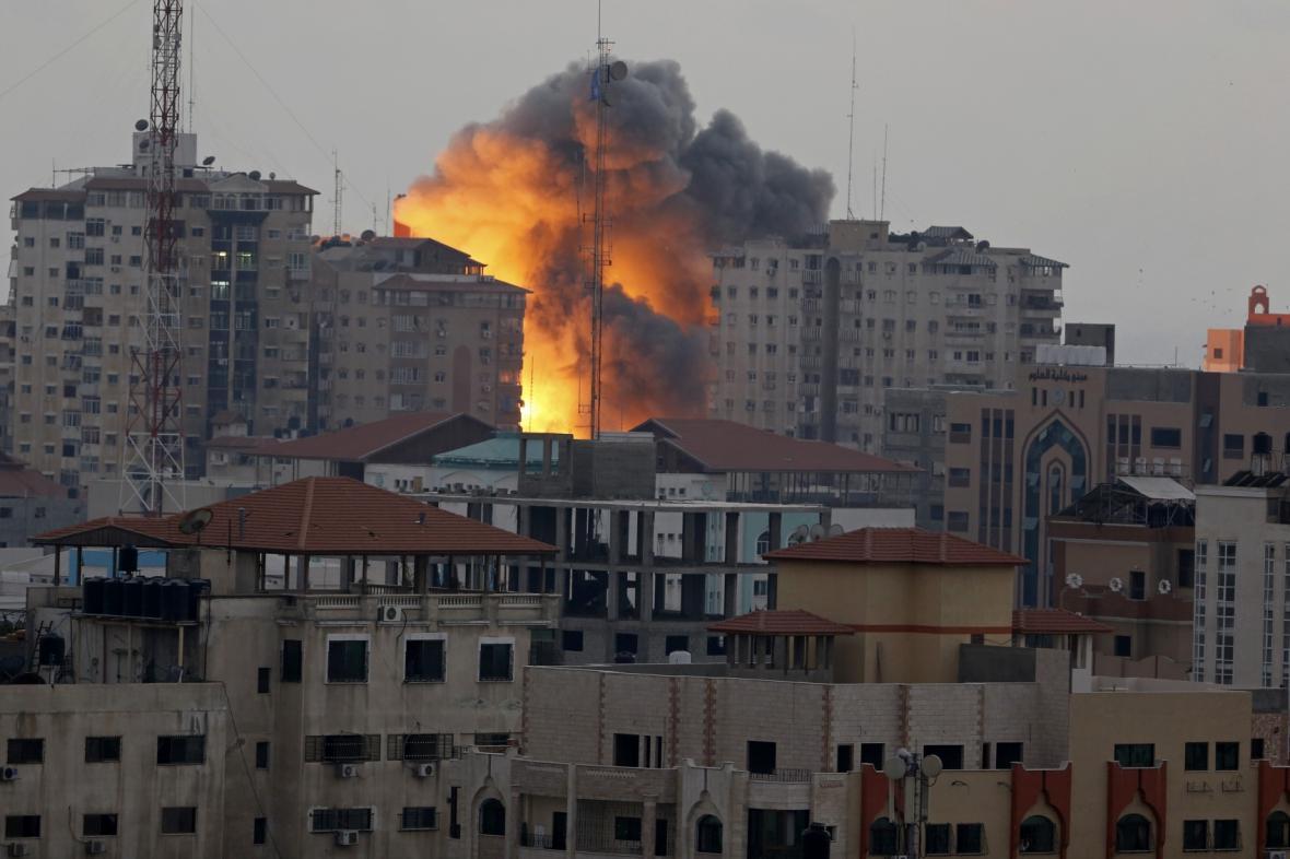 Výbuch v Pásmu Gazy