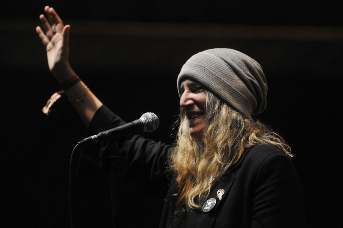 Americká zpěvačka a básnířka Patti Smithová v Trutnově
