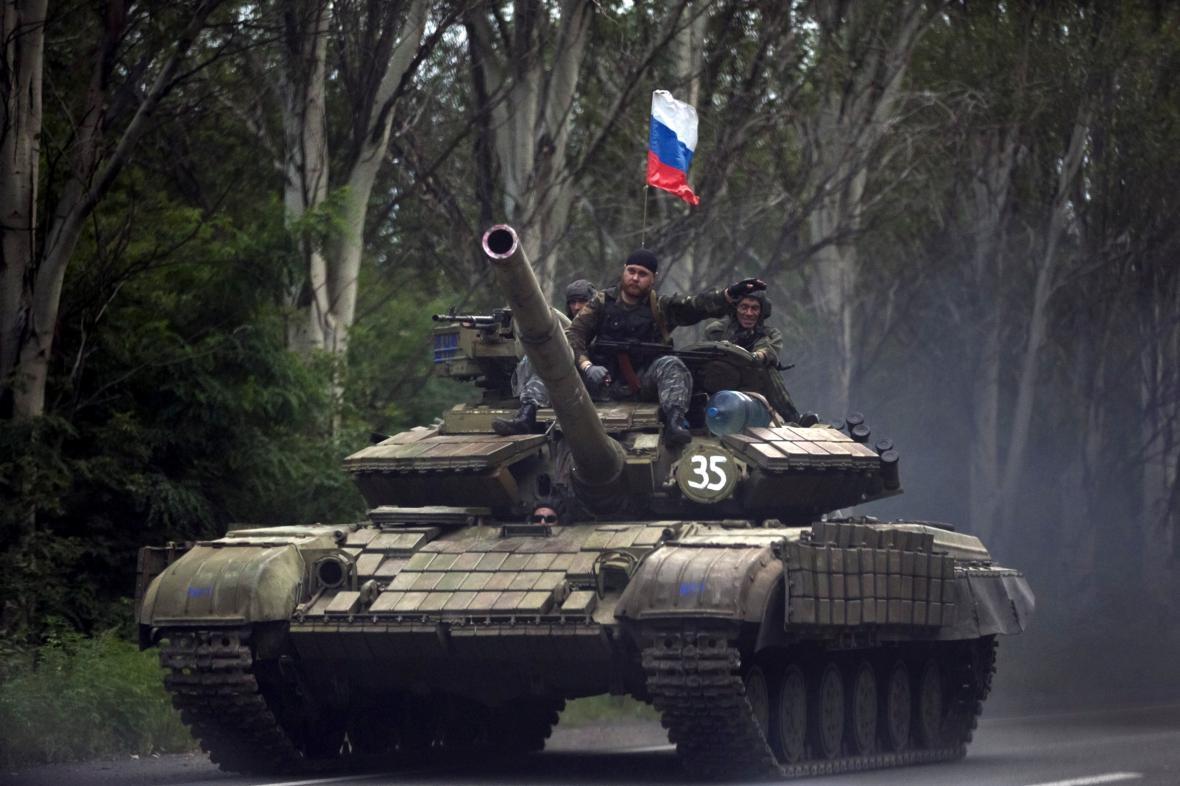 Proruští separatisté v Doněcké oblasti