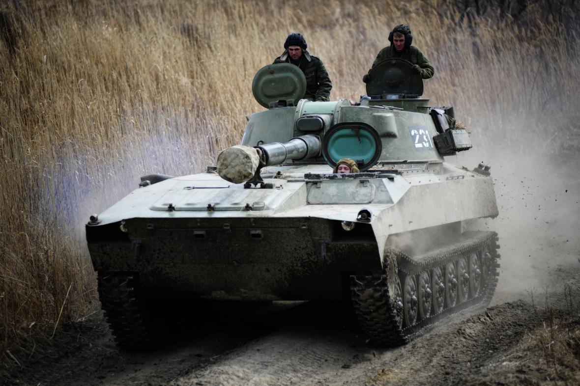 Samohybná houfnice ruské armády